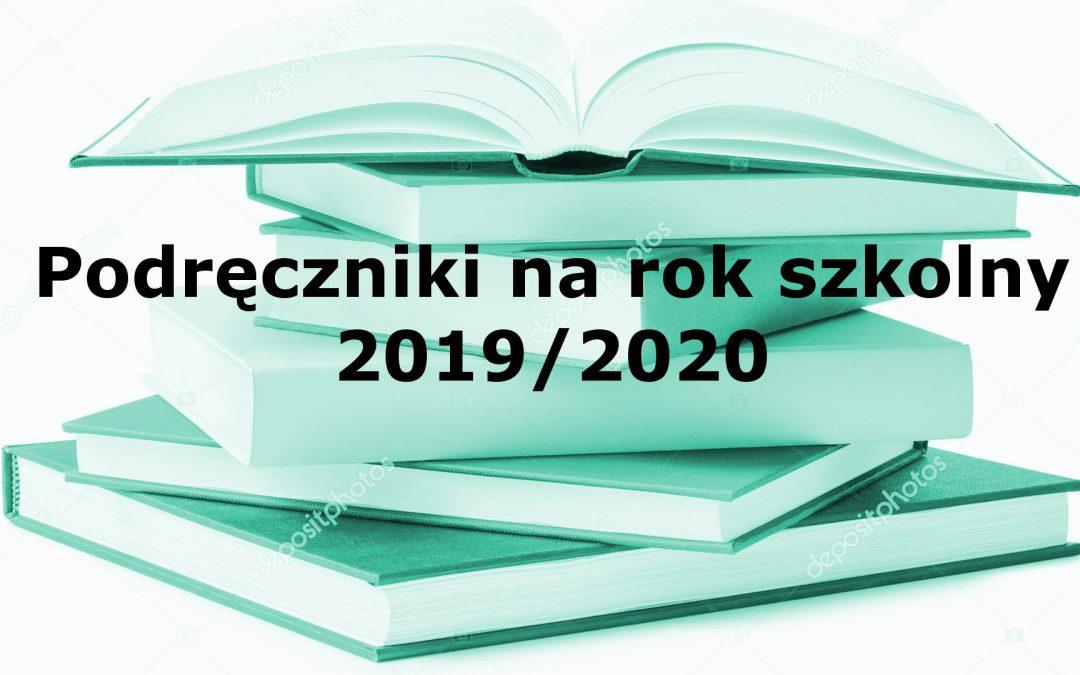 Podręczniki na rok szkolny 2019/2020