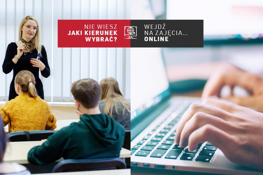 Nie jesteś pewny/pewna, jaki kierunek studiów wybrać? – Wejdź na zajęcia online i dowiedz się wszystkiego!