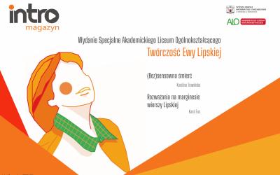 Ewa Lipska inspiruje uczniów ALO