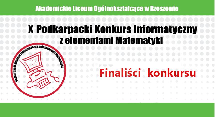 Wyniki Podkarpackiego Konkursu Informatycznego z elementami Matematyki