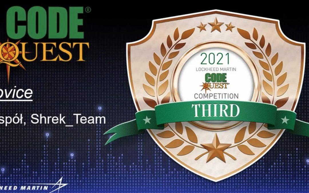 Trzecie miejsce w konkursie programistycznym CodeQuest